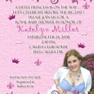 Princess is Coming Photo Baby Shower Invitations