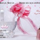 Princess Crystal Stroller Photo Baby Shower Invitations Pink