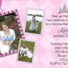 Photo Baby Shower Invitations with Three Photos