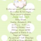 Angels Precious Moments Baby Shower Invitations Green and Polka Dots