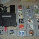 Nintendo 64 N64 SYSTEM complete with 19 video games, controller, memory card, console FOR SALE