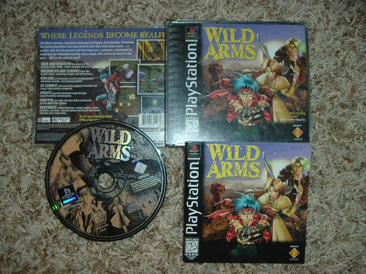 Wild Arms Sony Playstation Ps1 100 Complete In Case Rpg