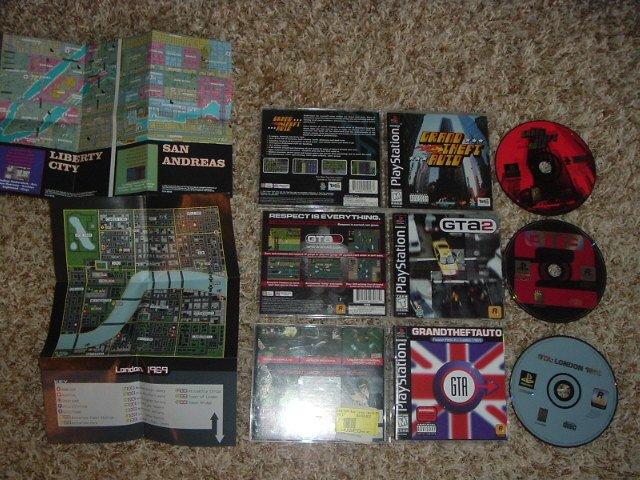 Grand Theft Auto, Gta 2, And Gta London (ps1) All Complete Originals