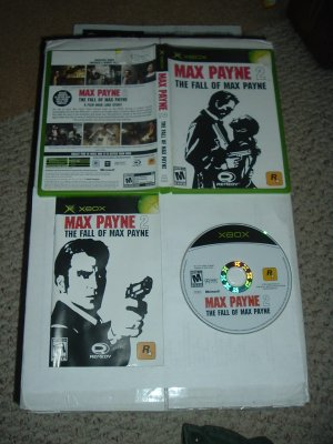 Max Payne 2: The Fall of Max Payne COMPLETE IN CASE (Microsoft XBOX game FOR SALE)