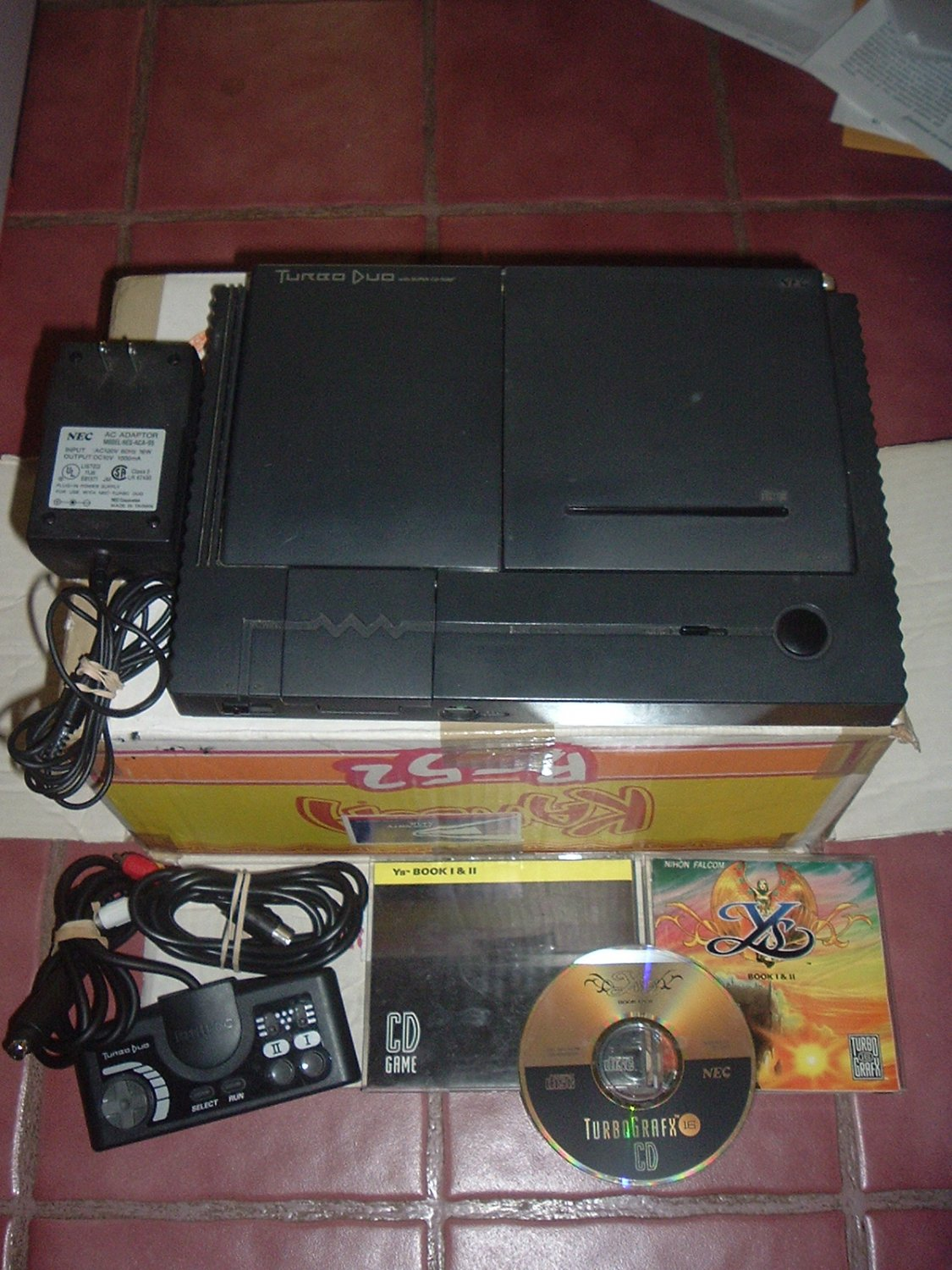 Turbo Duo System VERY EXCELLENT + Ys Book I & II COMPLETE GAME (Y's 1 & 2) For Sale