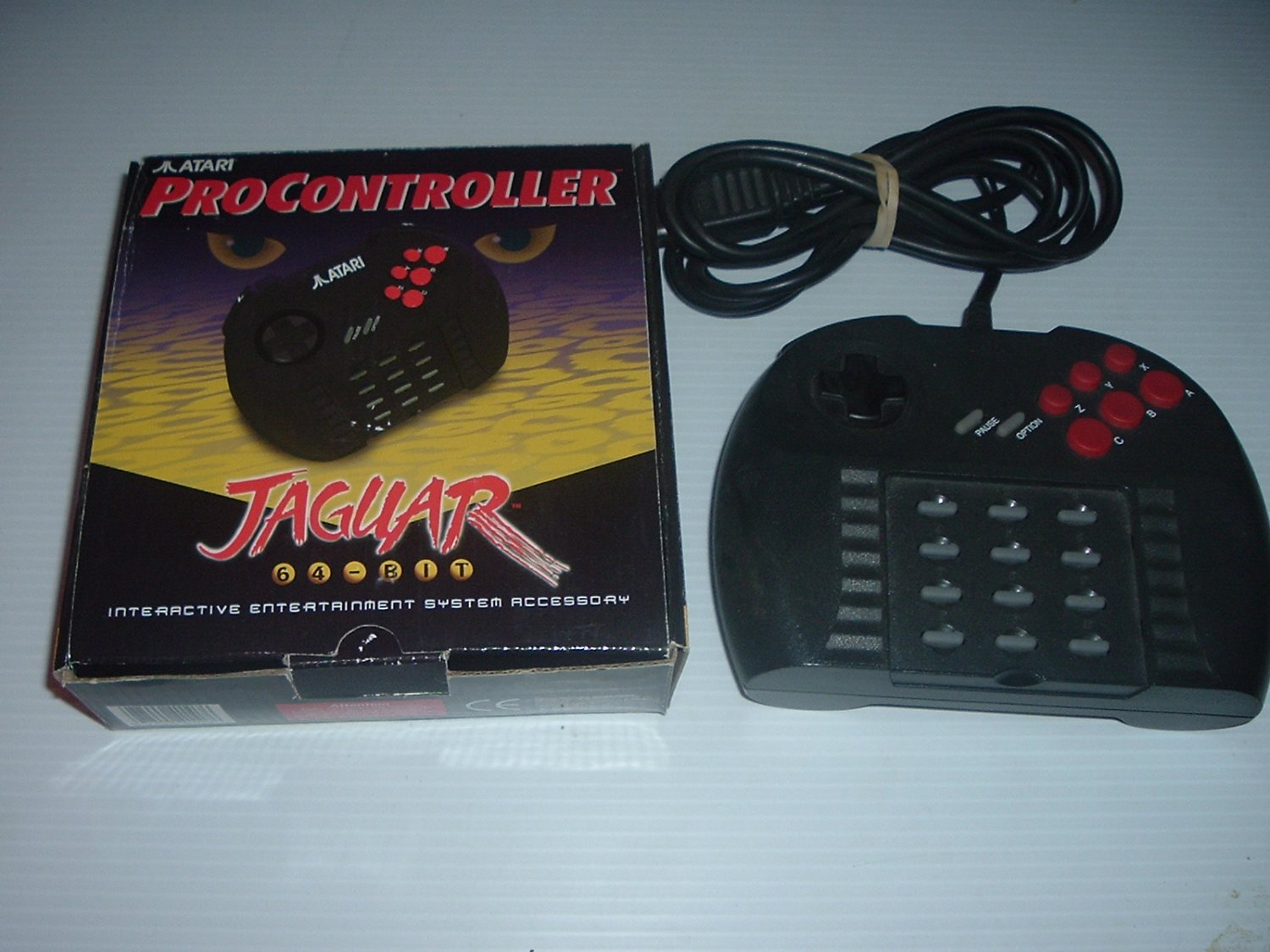 Atari Jaguar Pro Controller NEAR MINT IN BOX, RARE 6-button pad with L1 and R1 buttons, For Sale