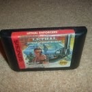 Lethal Enforcers (Sega Genesis, Nomad) this is a great game for the Enforcer gun, cartridge For Sale