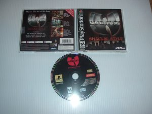 Wu-Tang: Shaolin Style (PS1) COMPLETE in CASE, great arena fighting game with music tracks, FOR SALE
