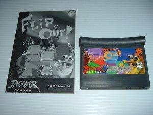 Flip Out! (Atari Jaguar) EXCELLENT GAME with MANUAL+ BONUS, best puzzle game on Jaguar FOR SALE