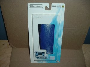 BRAND NEW Nintendo DS Lite System SKINS 5 piece Blue Static Lightning skin cover, for sale