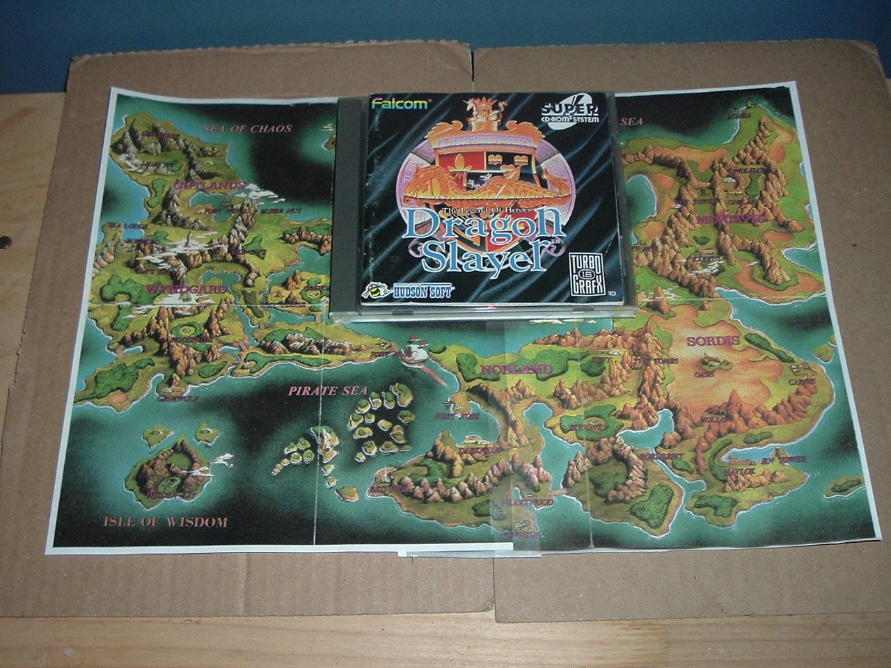Dragon Slayer: Legend of Heroes NEAR MINT COMPLETE +MAP (Turbo Duo