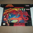 "BRAND NEW Super Metroid ORIGINAL RARE ""FOR DISPLAY ONLY"" Authentic SNES Game Box, rarity FOR SALE"