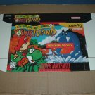"NEW Super Mario World 2: Yoshi's Island ""FOR DISPLAY ONLY"" Authentic SNES Game Box, RARE for sale"