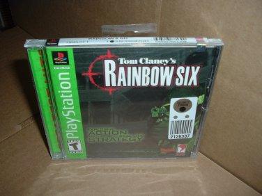 SEALED Tom Clancy's RAINBOW SIX (PS1) BRAND NEW the game that started Clancy franchise FOR SALE
