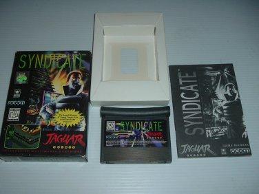 Syndicate (Atari Jaguar) NEAR MINT/XLNT & COMPLETE IN BOX + BONUS, great rare game For Sale