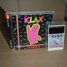 Klax NEAR MINT- & COMPLETE IN CASE (rare Turbo Grafx 16, Duo, Express) addictive game for sale