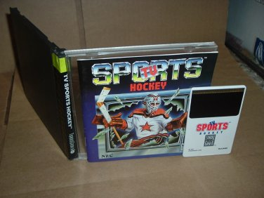 TV Sports Hockey VERY EXCELLENT & COMPLETE IN CASE (Turbo Grafx 16, turbografx) For Sale