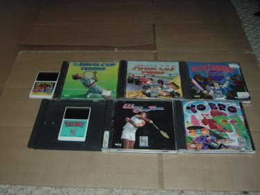 TurboGrafx 16 Lot #1: 7 GAMES - Yo' Bro, Vigilante, Battle Royale, & MORE Turbo Grafx Game For Sale