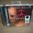 SEALED Apocalypse *starring Bruce Willis* (Sony PS1) BRAND NEW Original Black Label Release FOR SALE