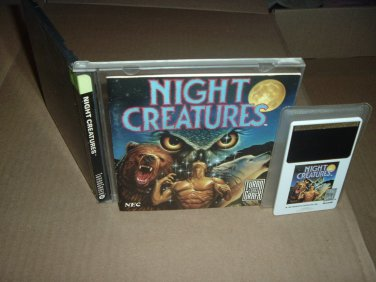 Night Creatures NEAR MINT-  & COMPLETE IN CASE (Turbo Grafx 16 Duo turbografx) For Sale