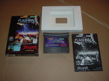 Flashback: The Quest For Identity (Atari Jaguar) NEAR MINT+ & COMPLETE IN BOX rare +BONUS, FOR SALE