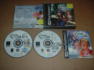 Chrono Cross NMINT/MINT & COMPLETE Original black label Release (Sony Playstation PS1) RPG For Sale