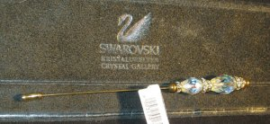 RARE IMPORTED SWAROVSKI HAT PIN AB WITH POUCH - TAGS ATTACHED