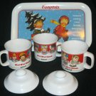 1993 CAMPBELLS COLLECTIBLE TIN W/ THE CAMPBELLS KIDS AND (4) SOUPER MUG SET