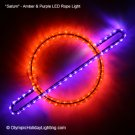 Saturn Ringed Gas Planet LED Rope Light Display
