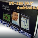 ZT 180 10.2 Inch Epad  Android 2.2 512 MB Ram 4 gb Storage 1 ghz