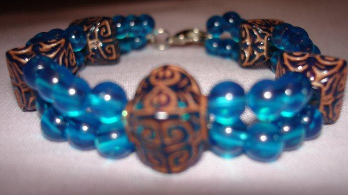 Item # MD0016 Double Strand Turquoise Bracelet