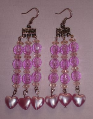 Item # MD0008 Pink earrings