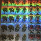 Uncut hologram card sheet 93 skybox CABLE STORM MAGNETO