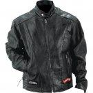 Diamond Plate ™ Rock Design Genuine Buffalo Leather Motorcycle Jacket