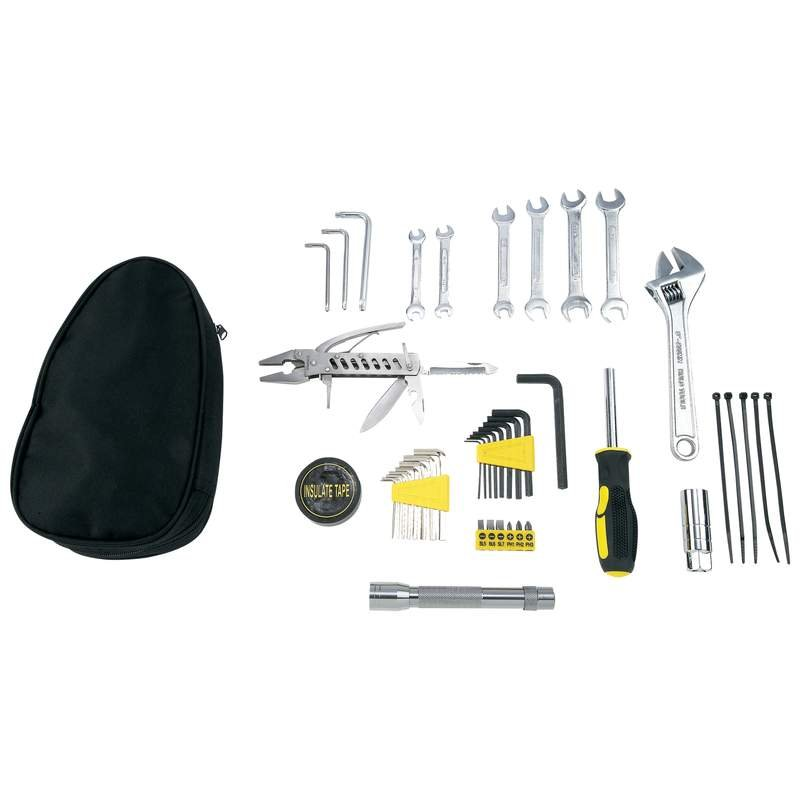 Maxam ® 44 piece Motorcycle SAE & Metric Tool Kit