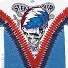 Grateful Dead Steal Your Face V-Dye XXL Tye Tie Shirt NEW