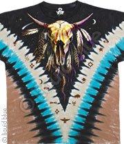 Bison Skull  vdye - Tye Dye XXL Shirt