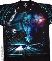 Tribal Wolf - double sided -  XXL Shirt