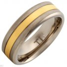 Brand New Gentlemens Band Ring 14K/Ti Gold plated Titanium