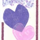 Heart Motif Handmade Greeting Card