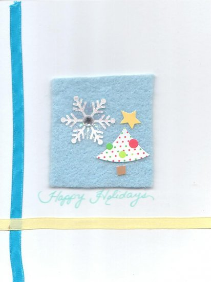 Tree & Snow Holiday Greeting Card