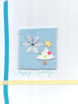 Tree & Snow Holiday Greeting Card