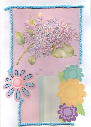 Flower Collage Greeting Card