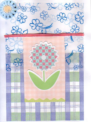Spring Flowers - Handmade Greeting Card