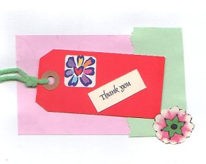Handcrafted Thank You Card