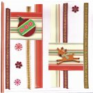 "Sale! Handcrafted Holiday Greeting Card - ""Reindeer and Stripes"""