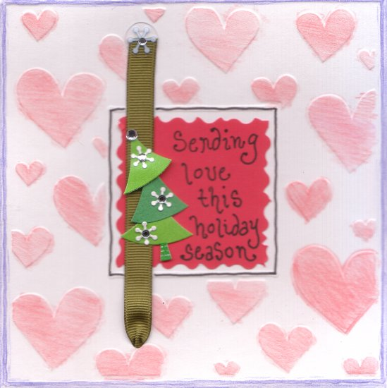 "Sale! Handmade Greeting Card - ""Sending Love This Holiday Season"""