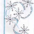 """Handcrafted Holiday Greeting Card - """"Snowflakes"""""""