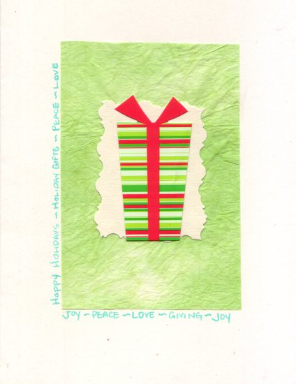 "Handcrafted Holiday Greeting Card - ""Holiday Gifts"""