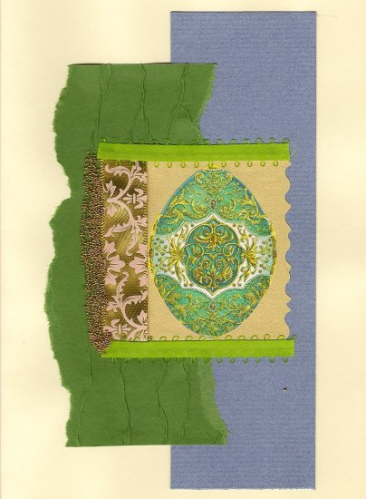 Elegant Handcrafted Easter Greeting Card